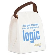 Spock Quote Canvas Lunch Bag