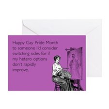 Switching Sides Greeting Card