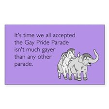 Parades Are Gay Sticker (Rectangle)
