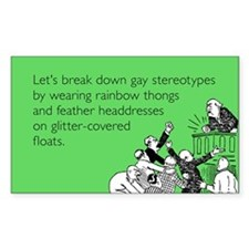 Gay Stereotypes Sticker (Rectangle)