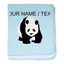 Custom Panda Bear baby blanket
