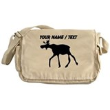 Custom Elk Silhouette Messenger Bag