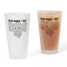 Custom Cute Elephant Drinking Glass