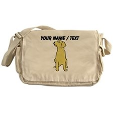 Custom Golden Retriever Messenger Bag