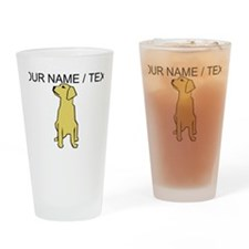 Custom Golden Retriever Drinking Glass