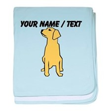 Custom Golden Retriever baby blanket