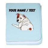 Custom Cute Bulldog baby blanket
