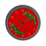 Two Salamanders Wall Clock