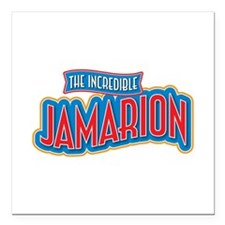 "The Incredible Jamarion Square Car Magnet 3"" x 3"""