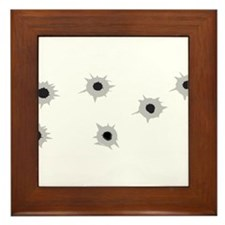 Bullet Holes Framed Tile