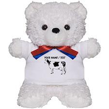 Custom Spotted Cow Teddy Bear
