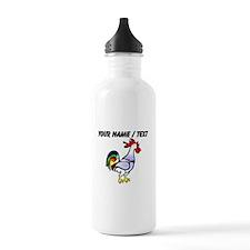Custom Rooster Water Bottle