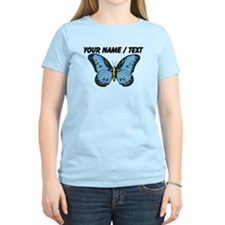 Custom Blue Butterfly T-Shirt