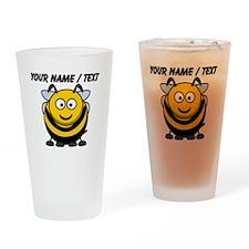 Custom Cartoon Bumble Bee Drinking Glass