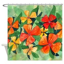 Tropical Flower Splash Shower Curtain
