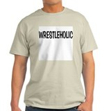 """WRESTLEHOLIC"" Ash Grey T-Shirt"