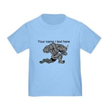 Custom Running Rhino Mascot T-Shirt