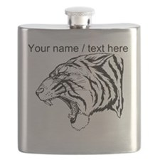 Custom Angry Tiger Flask