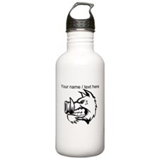 Custom Razorback Mascot Water Bottle