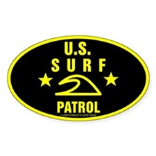 U.S. SURF PATROL Oval Decal