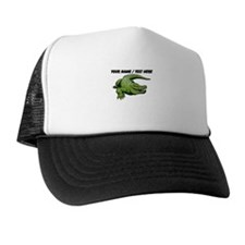 Custom Green Alligator Cartoon Hat