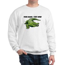 Custom Green Alligator Cartoon Sweatshirt