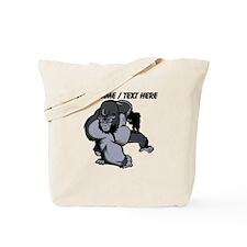 Custom Gorilla Mascot Tote Bag