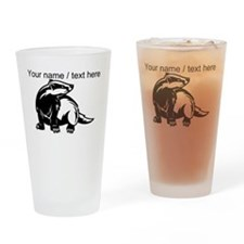 Custom Honey Badger Drinking Glass