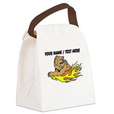 Custom Fire Bear Canvas Lunch Bag
