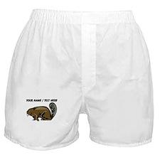 Custom Brown Beaver Boxer Shorts