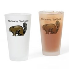 Custom Brown Beaver Drinking Glass