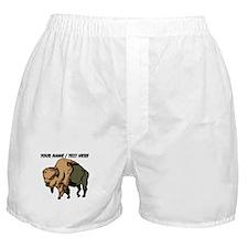 Custom Brown Bison Boxer Shorts
