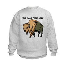 Custom Brown Bison Sweatshirt