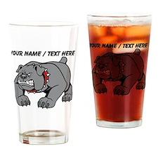 Custom Angry Bulldog Drinking Glass