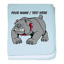 Custom Angry Bulldog baby blanket