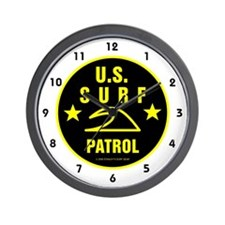 U.S. SURF PATROL Wall Clock