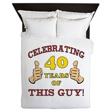 40th Birthday Gift For Him Queen Duvet