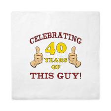 40th Birthday Gift For Him Queen Duvet