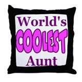 World's Coolest Aunt Throw Pillow