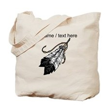 Custom Native American Feathers Tote Bag