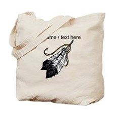 Custom Native American Feathers Tote Bag