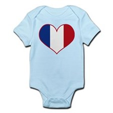 Heart France Flag Onesie