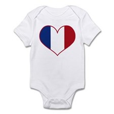 Heart France Flag Infant Bodysuit