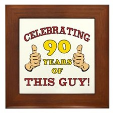 90th Birthday Gift For Him Framed Tile