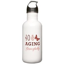 40 & Aging Gracefully Sports Water Bottle