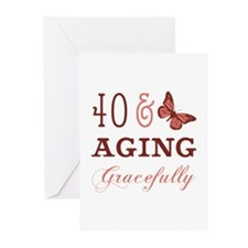 40 & Aging Gracefully Greeting Cards (Pk of 10)