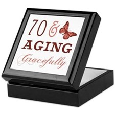 70 & Aging Gracefully Keepsake Box