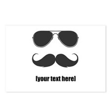 Shades and mustache Postcards (Package of 8)