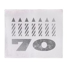 70th Birthday Candles Throw Blanket