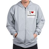 I love Consternation Zip Hoodie